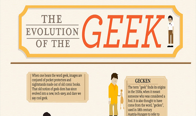 The Evolution of the Geek #infographic