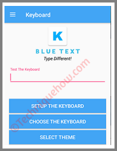Blue Text: Keyboard and Converter