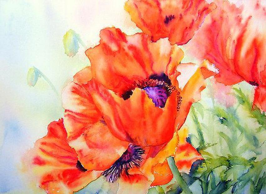 flores modernas pintadas con acuarela imgenes de flores en diseos modernos pinturas de flores cuadros coloridos bodegones con flores abstractas