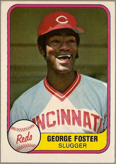 Baseball Card Breakdown Happy Card George Foster Slugger 1981 Fleer