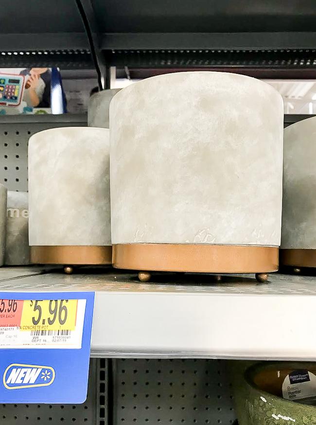 Walmart concrete planter