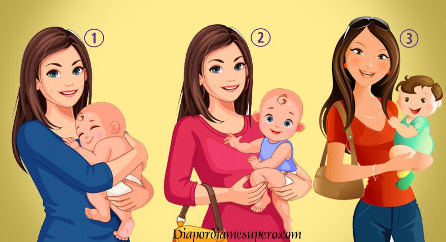 Test de personalidad: ¿Cuál mujer carga el hijo de otra persona?
