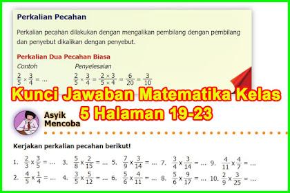 Kunci Jawaban Buku Senang Belajar Matematika Kelas 5 Kurikulum 2013 Halaman 19, 20, 21, 22, 23