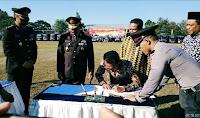 Walikota Bima Hadiri Upacara Peringatan Hari Bhayangkara ke-73 di Polda NTB