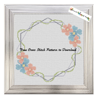 Beautiful Boho Cross Stitch Sampler Frame for Cross Stitch Wedding, Birth, or Bereavement Cross Stitch