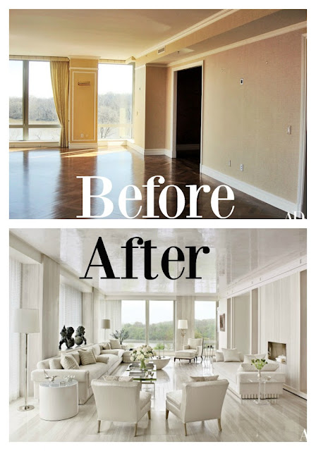 Before and after luxury renovation Solis Betancourt Washington D.C.