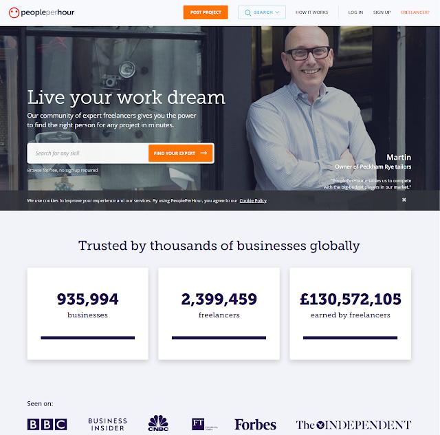 PeoplePerHour  is top Freelancing Website