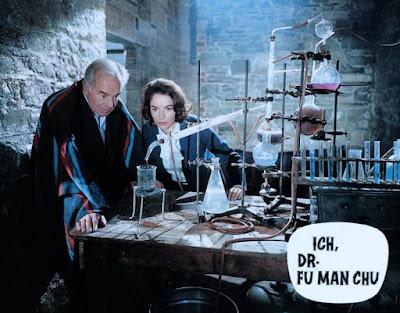 Face of Fu Manchu, Karin Dor, Walter Rilla, lobby card