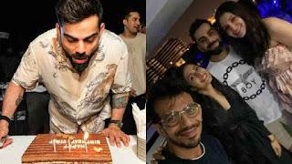 Virat Kohli Celebrate a birthday with Anushka Sharma