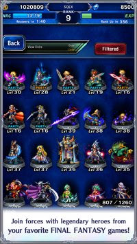 Free Download Final Fantasy Brave Exvius MOD APK v2.0.0 Unlimited EXP, Crafting Material, Gil for Android