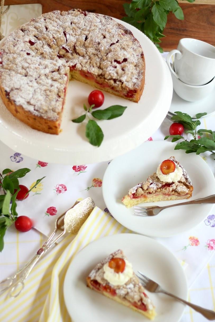 Himmlischer Streuselkuchen mit Reineclauden Rezept und Video von Sugarprincess