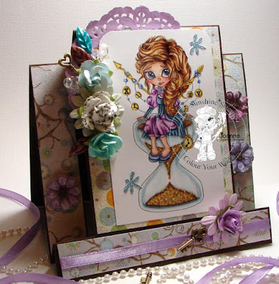 side view of center step card with Sanya time Ethereal Enchantress