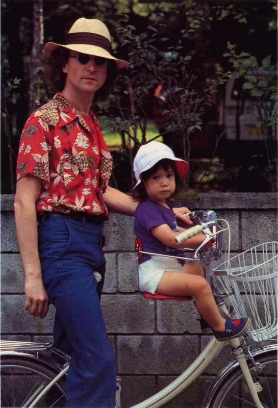 john lennon and sean in karuizawa japan 1979 vintage