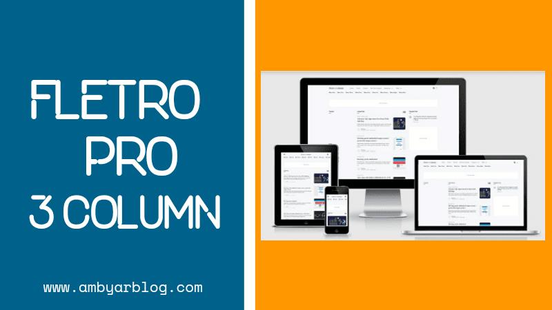 Template Blogger Fletro Pro 3 Column Gratis