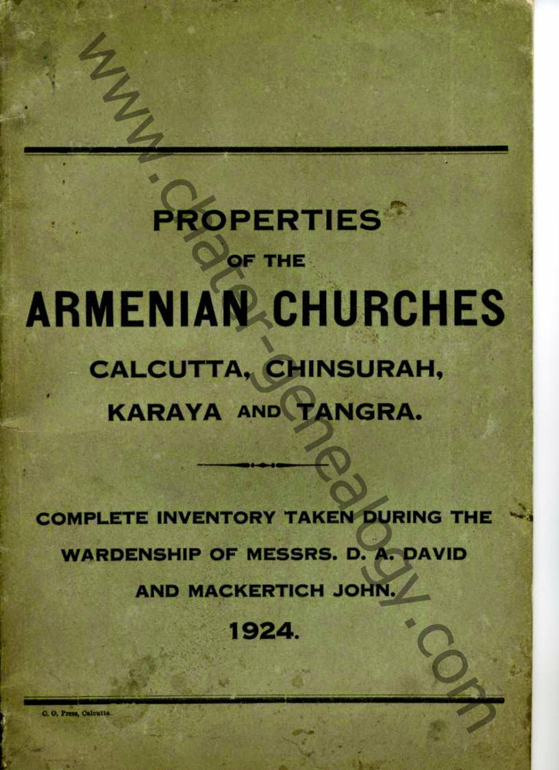 Armenians in India - Behind the Scenes Forgotten History: In