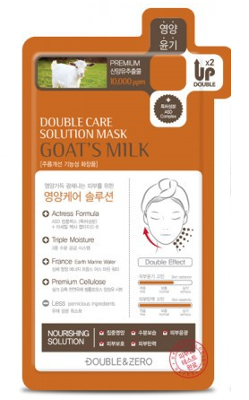 Double&Zero Double Care Solution Mask Goat's Milk