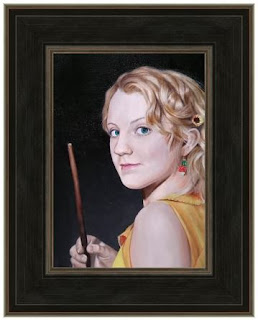 Completed Oil Painting of Evanna Lynch as Luna Lovegood from Harry Potter - Robin Springett