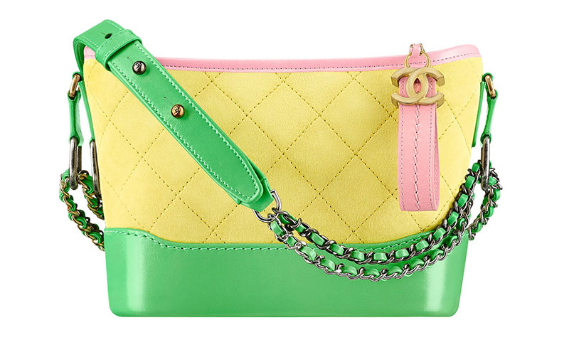 Chanel Gabrielle Small Hobo Bag in Yellow/Green/Pink $3,200