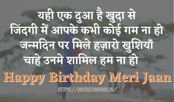 Happy Birthday Wishes In Hindi For Lover