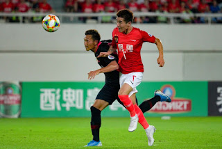 The result of the match Kashima Japan and Guangzhou Chinese second day .. Who won and qualified for the semi-finals of the AFC Champions League 2019