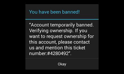mengembalikan akun coc di banned