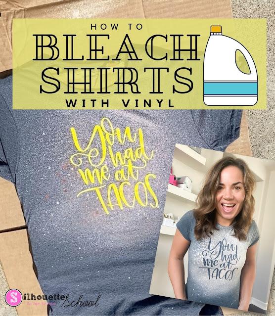 silhouette america blog, silhouette 101, bleach shirts, oracal 651, cameo 4