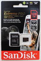 SanDisk サンディスク Extreme Pro microSDXCカード UHS-I U3 V30 A1対応 読取速度: 最大100MB/s 書込速度: 最大90MB/s SDSQXCG-128G-GN6MA【128GB】