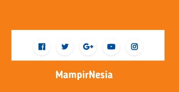 Cara Mudah Buat Widget Sosial Media Di Blog   Style 4