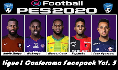 PES 2020 Ligue1 Conforama Facepack Vol. 5 by Shaft