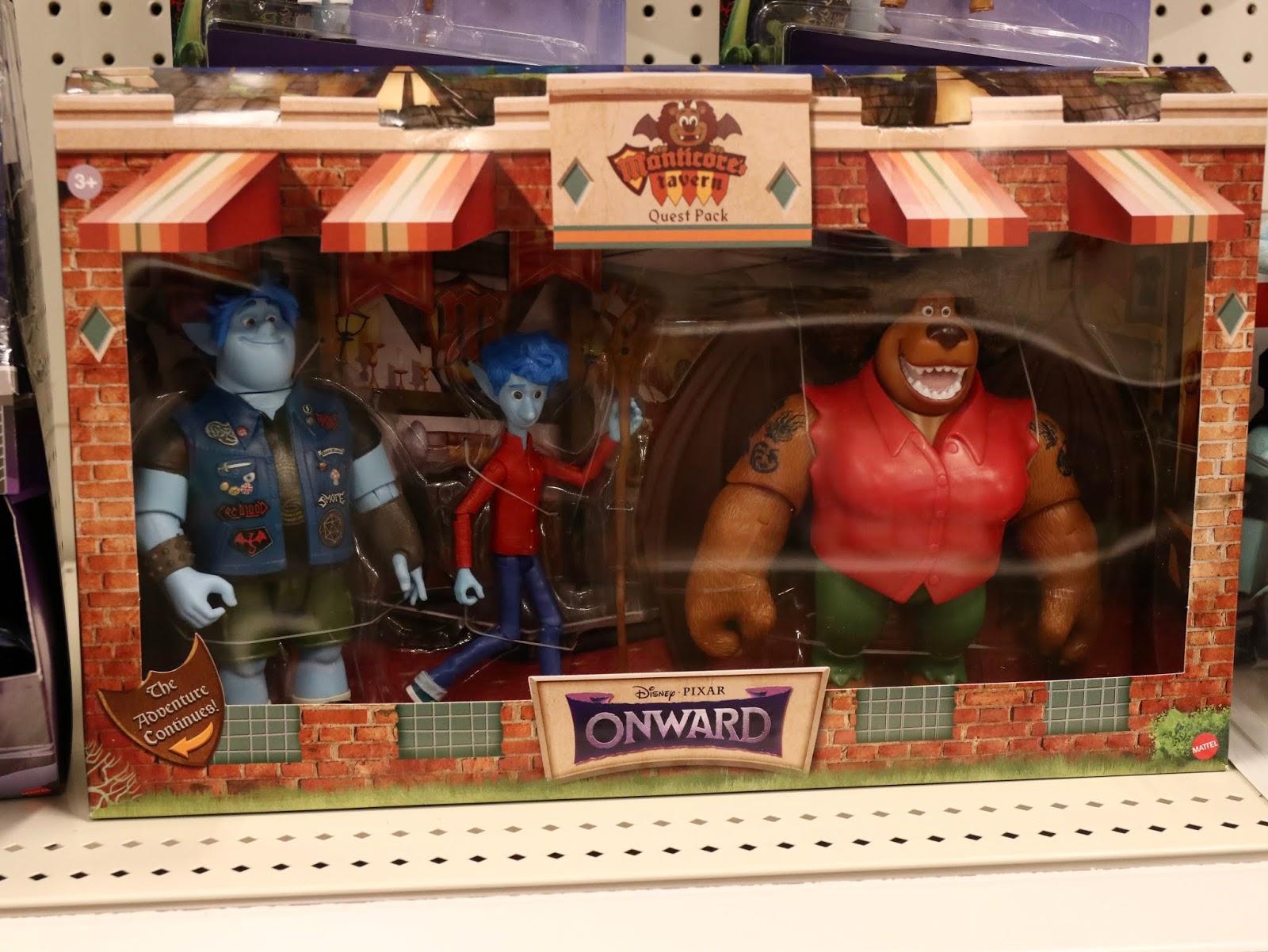 Pixar onward action figures, Ian, Barley and Manticore
