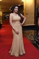 Actress Himaja Stills in Golden Spicy Long Dress at SIIMA Short Film Awards 2017 .COM 0208.JPG