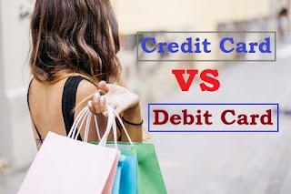 perbedaan bentuk fisik kartu kredit dan kartu debit