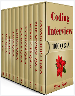 Coding Interview, 1000 Questions & Answers: Including Examination of C#, C++, HTML, CSS, JQuery, JavaScript, JAVA, Linux, PHP, MySQL, Python, Visual Basic Courses