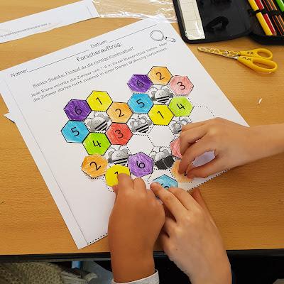 Schüler lernen von und miteinander, wenn sie gemeinsam eine schwierige Aufgabe lösen sollen. Nachdenken und Lernen. Zusammenarbeit fördern.