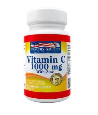 [Mi Tienda Naturista en Maicao]Vitamina C 1000 mg con Zinc x100 Tabletas - Healthy America
