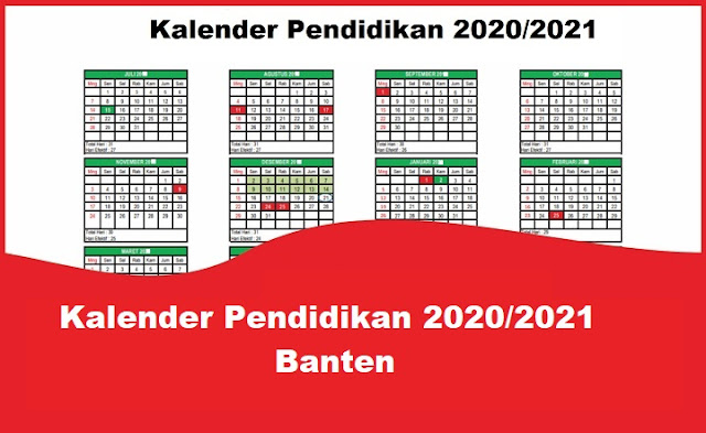 Kalender Pendidikan 2020/2021 Banten