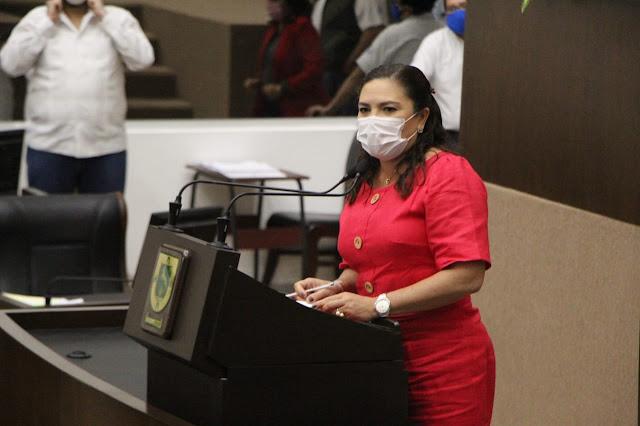 coordinadora de la fracción del PAN, Rosa Adriana Díaz Lizama. Foto Antonio Sánchez