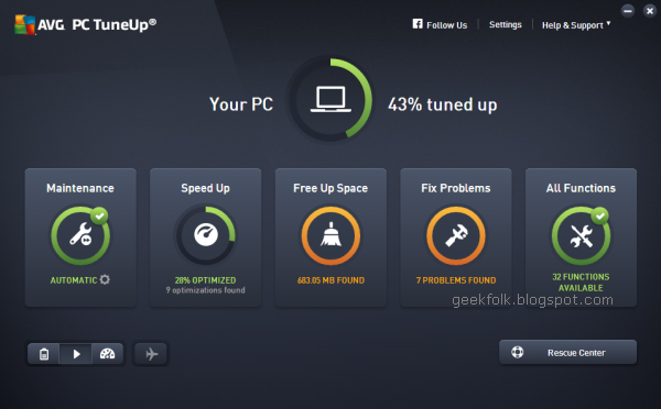 AVG PC TuneUp v16.22
