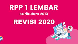 RPP 1 Lembar Bahasa Indonesia K13 Revisi 2020 Kelas 8