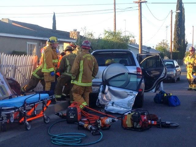bakersfield kern county vehicle crash monterey beale avenue toyota