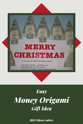 Easy Money Origami Gift Idea