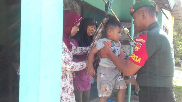Sukseskan Program Balita Sehat Babinsa Dampingi Kegiatan Posyandu Di Wilayah Binaan