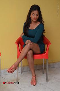 Telugu Actress Prasanthi Stills in Green Short Dress at Swachh Hyderabad Cricket Press Meet  0076.JPG
