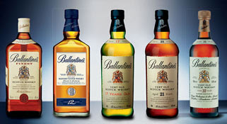 the ballantine's whisky range