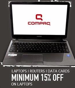 Get Minimum 15% Off – Max 57% Off on Laptop | Router | Data Cards@ Flipkart