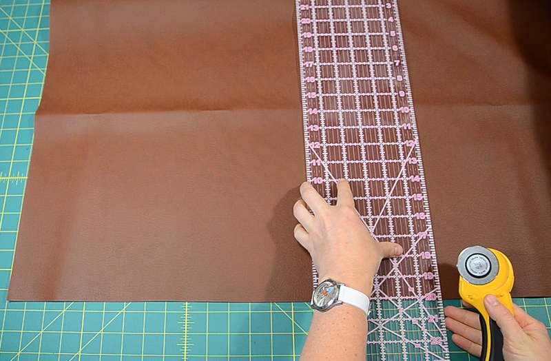 cut fabric for leather bag