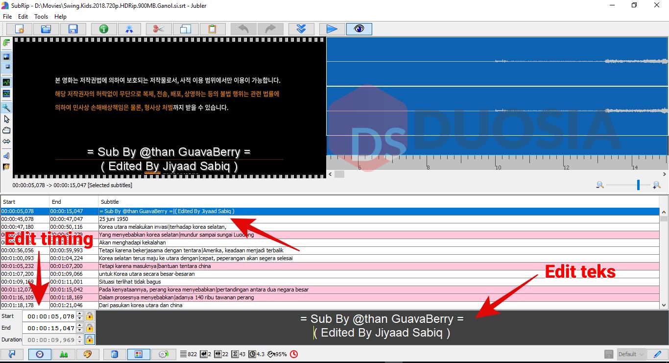 cara mengedit subtitle di laptop
