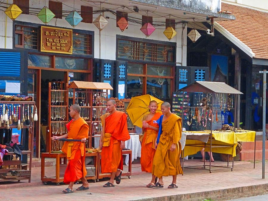 Travel with Solange: Buddhism in Laos, Spirits, Temples and Monks