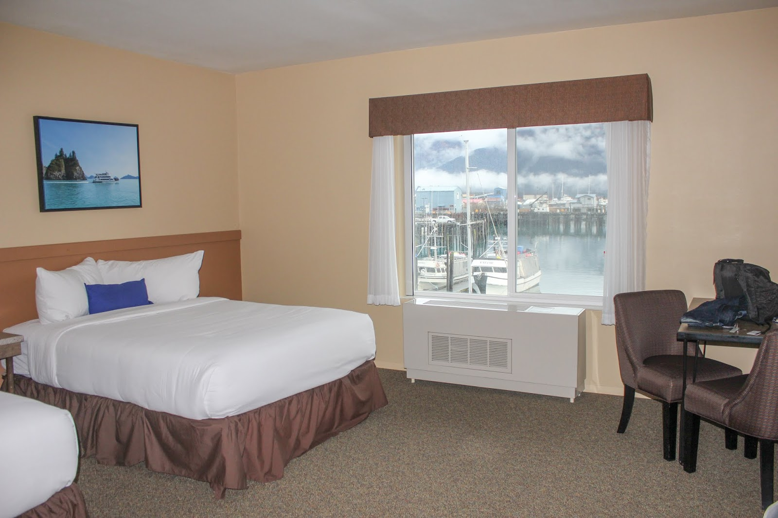 harborview room at Harbor360 Hotel in Seward Alaska
