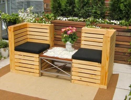 set kursi taman dari palet bekas